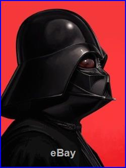 Darth Vader Star Wars Mondo Portrait Art Print Poster by Mike Mitchell SIGNED