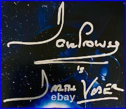 Dave Prowse Authentic Signed Star Wars Vader 11x17 Poster Photo Beckett BAS