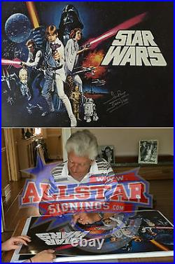 Dave Prowse Darth Vader Signed Star Wars New Hope Full Size Film Movie Poster