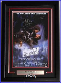 Dave Prowse Signed Framed 11x17 Star Wars Empire Strikes Back Poster Steiner