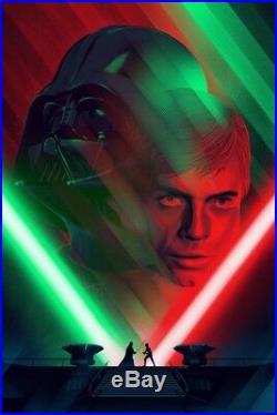 Death Star II Duel (Star Wars) Mondo Kevin Tong Screen Print, Poster