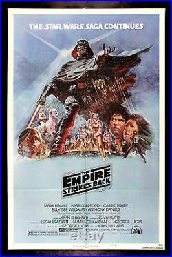 EMPIRE STRIKES BACK CineMasterpieces 1980 1SH ORIGINAL MOVIE POSTER STAR WARS