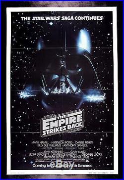 EMPIRE STRIKES BACK CineMasterpieces 1980 DARTH VADER MOVIE POSTER STAR WARS