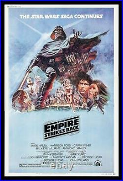 EMPIRE STRIKES BACK CineMasterpieces 40x60 MOVIE POSTER HUGE STAR WARS 1980