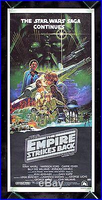 EMPIRE STRIKES BACK CineMasterpieces AUSTRALIAN STAR WARS 1980 MOVIE POSTER
