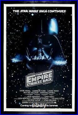 EMPIRE STRIKES BACK CineMasterpieces MOVIE POSTER DARTH VADER STAR WARS 1980