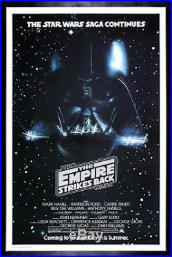 EMPIRE STRIKES BACK CineMasterpieces ROLLED DARTH VADER STAR WARS MOVIE POSTER