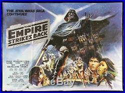 EMPIRE STRIKES BACK CineMasterpieces UK BRITISH STAR WARS MOVIE POSTER 1980