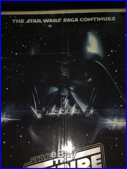 EMPIRE STRIKES BACK ORIG ONE SHEET MOVIE POSTER STAR WARS Carrie Fisher Vader 79