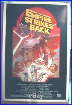 EMPIRE STRIKES BACK R-82 ORIGINAL ROLLED MINT 40x60 MOVIE POSTER STAR WARS 1982