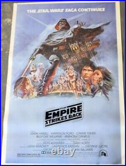 EMPIRE STRIKES BACK STYLE B ORIGINAL ROLLED 40x60 POSTER 1980 STAR WARS