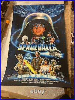 Eddie Holly Spaceballs Movie Poster Print Mel Brooks Not Mondo Star Wars 35 Made