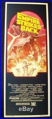 Empire Strikes Back 14x36 R-82 Star Wars Movie Poster Insert Star Wars