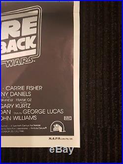 Empire Strikes Back Australian Daybill Poster Star Wars Daybill ESB