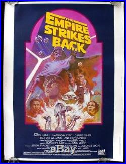 Empire Strikes Back R-82 Original Rolled 30x40 Unused Movie Poster Star Wars