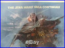 Empire Strikes Back Style B Original 27 X 41 Movie Poster Star Wars 1980
