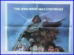 Empire Strikes Back Style B Original 27x41 Movie Poster Star Wars 1980