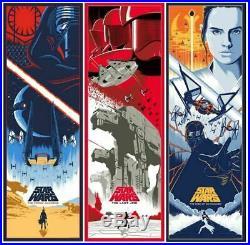 Eric Tan Star Wars Sequel Trilogy Movie Poster Art Print Last Jedi Force Mondo