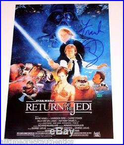 FRANK OZ SIGNED STAR WARS RETURN OF THE JEDI MOVIE POSTER PHOTO WithCOA PROOF YODA