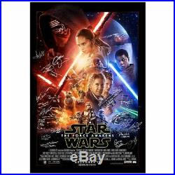 Ford, Hamill Star Wars The Force Awakens Cast Autographed Original 27x40 Poster