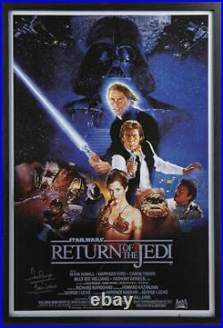 Framed Dave Prowse Darth Vader Signed Star Wars Return Of The Jedi Movie Poster