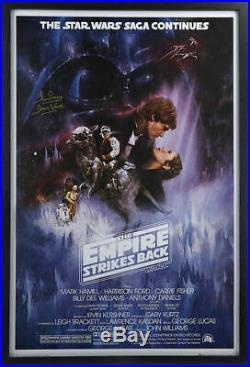 Framed Dave Prowse Signed Star Wars Empire Strikes Back Movie Poster Darth Vader