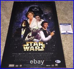 Frank Oz Signed Star Wars 12x18 Movie Poster Yoda Return Of The Jedi Last Bas