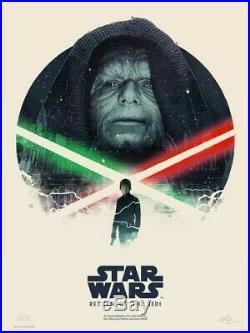 GABZ Star Wars Trilogy Set of 3x LE #/350 Movie Posters Art Prints Mondo Stout