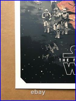 Gabz Star Wars Force Awakens variant screen print Domaradzki movie poster art