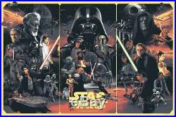Gabz Star Wars Original Trilogy Art Print Poster Bottleneck Gallery Mondo