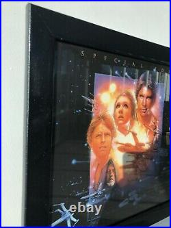 Genuine Original Star Wars Movie Poster Special Edition, 1997 UK Mini Framed