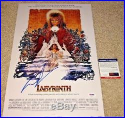 George Lucas Signed 12x18 Labyrinth Poster Photo Star Wars David Bowie Psa