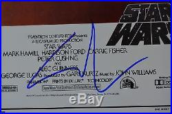 George Lucas Signed 12x18 Poster with JSA COA #Q49676 Star Wars