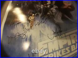 George Lucas Signed Star Wars The Empire Strikes Back Movie Poster