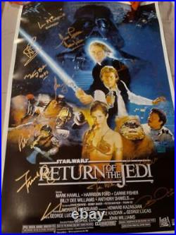 George Lucas Signed Star Wars'return Of The Jedi' Movie Poster