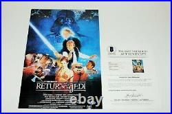 George Lucas Signed Star Wars'return Of The Jedi' Movie Poster Beckett Coa Bas