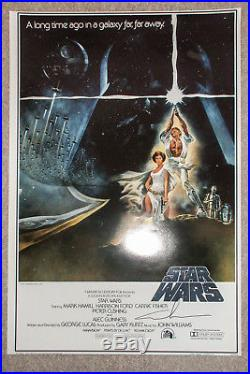 George Lucas Star Wars IV New Hope Signed 24x36 Full Size Poster PROOF JSA COA
