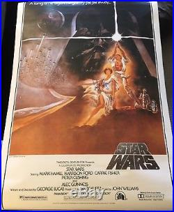 HARRISON FORD SIGNED AUTOGRAPH STAR WARS FULL SIZE 27x40 MOVIE POSTER BECKETT