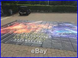 HUGE Vinyl Star Wars Movie Banner made for Walt Disney 19' x 23' MAKE OFFER NOW