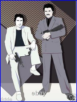 Han Solo Lando Star Wars poster Miami Vice Empire Strikes Back Harrison Ford