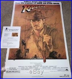 Harrison Ford Signed Indiana Jones Full Size Movie Poster 27x40 Star Wars Bas