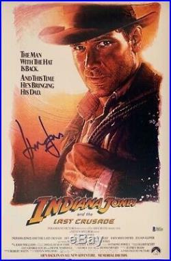 Harrison Ford Signed Star Wars Indiana Jones 12x18 Photo Poster Beckett BAS 1