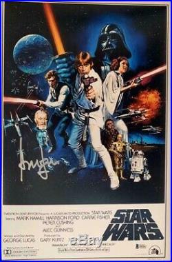 Harrison Ford Signed Star Wars Indiana Jones 12x18 Photo Poster Beckett BAS 5