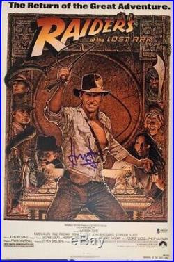 Harrison Ford Signed Star Wars Indiana Jones 12x18 Photo Poster Beckett BAS 7