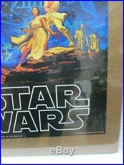 Hildebrandt Star Wars Movie Character Vintage Poster Garage 1977 Cng67