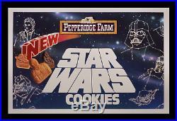Incredibly Rare Wookie Cookie 1983 Star Wars Movie Poster Pepperidge Farm