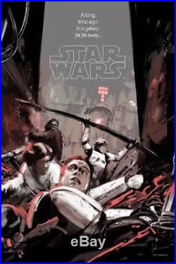 Into the Garbage Chute Flyboy Jock Star Wars Movie Poster Mondo Art Print Disney
