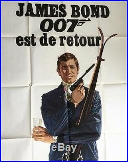 James Bond 007 OHMSS original vintage movie advertising poster quad Star Wars