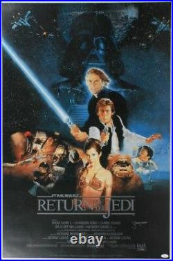 Jeremy Bulloch Signed Star Wars Return of the Jedi 24x36 Movie Poster withCOA