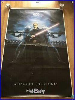 Job Lot Of 7 Original UK Bus Shelter Movie Posters Harry Potter Star Wars Pics